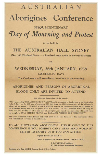 AUST DAY - Day of mourning